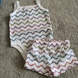 Baby girl short set